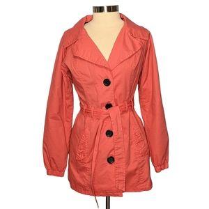 Lola Medium Cotton Button Up Trench Style Jacket